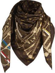 Luis Vuitton šátek , jak vidíte, je nepostradatelným doplňkem ...